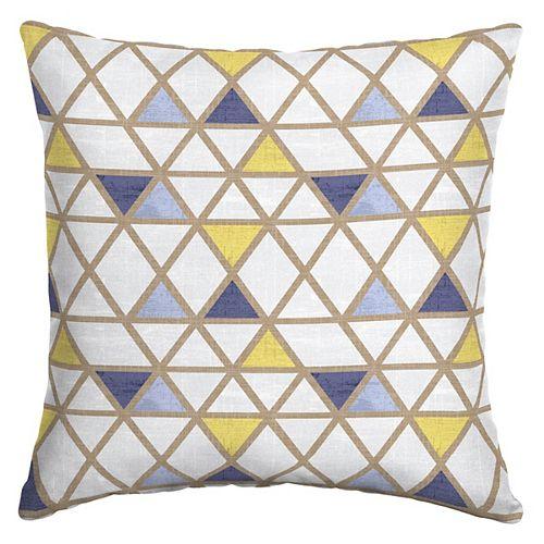 Koyla Triangles Outdoor Square Throw Pillow