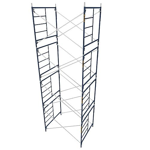 Ensemble d'échafaudage extérieur Saferstack 5 pi.x 5pi. avec croisillons 7 pi.(Ensemble de 4)