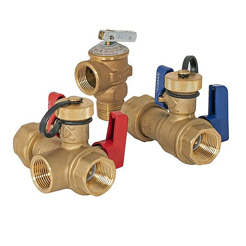 Eastman 3/4 inch FNPT Union x 3/4 inch NPT Tankless Water Heater Service Valve