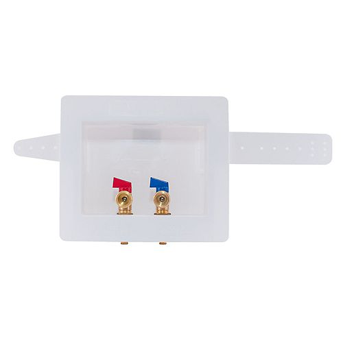 Eastman 1/2 inch PEX Dual Outlet Washing Machine Outlet Box