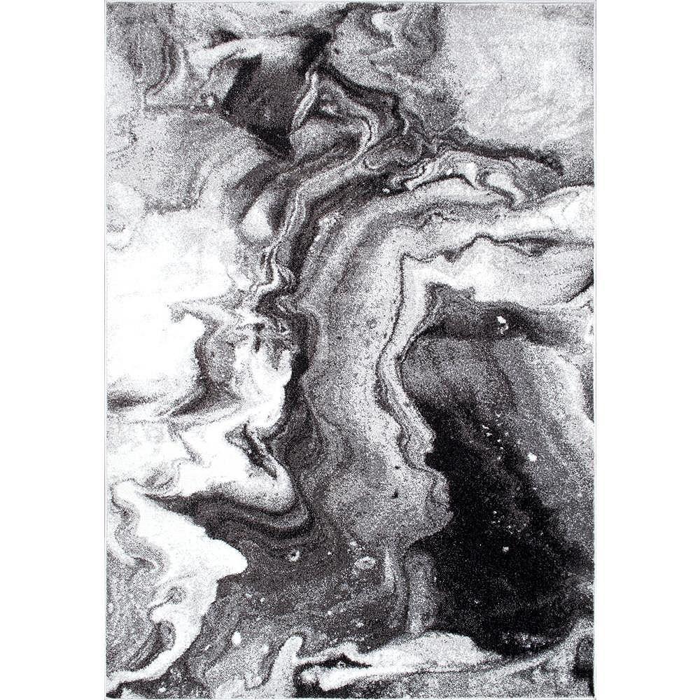 nuLOOM Tapis Abstrait Remona Gris 4 ft. x 6 ft.