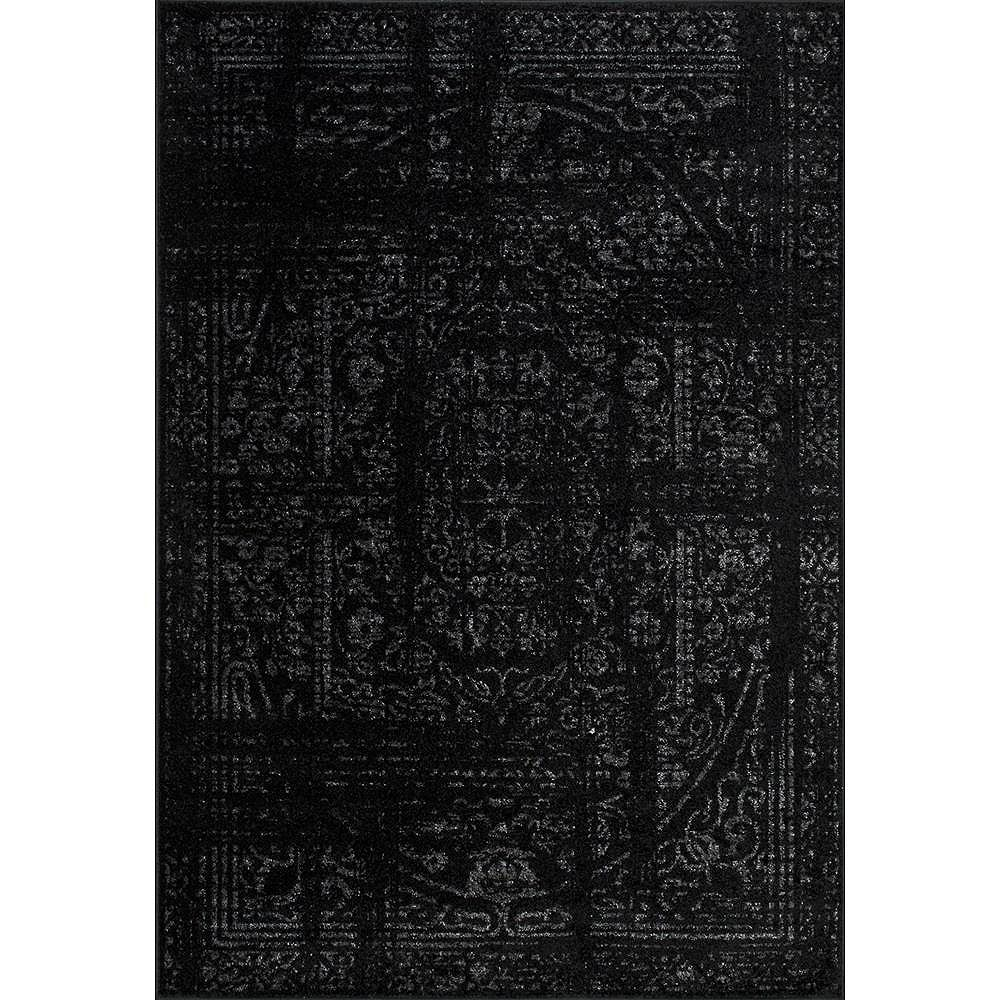 nuLOOM Vintage Arlena Black 6 ft. 7-inch x 9 ft. Indoor Area Rug