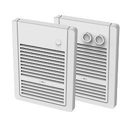 Wall Insert Fan Heater White B/I Stat And Tim 1000W 240V