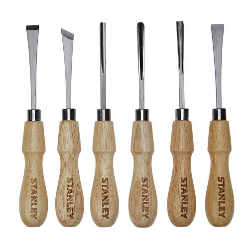 6 Piece Wood Carving Tool Set (STHT16863)