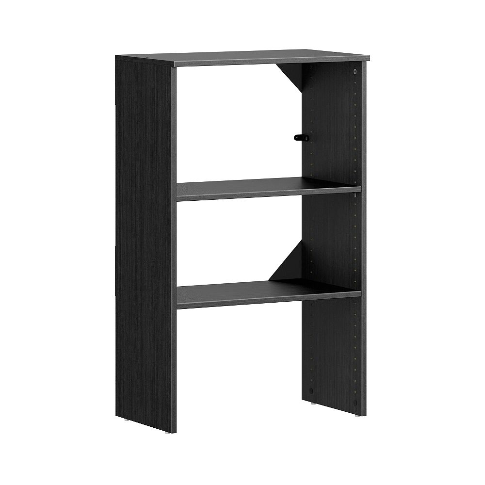 ClosetMaid Style+ 15in.D x 25in.W x 41in.H Noir Melamine 4-Shelf Stackable Base Unit Wood Closet System