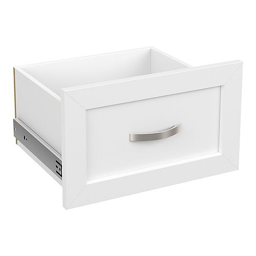 Style+ 10 in. H x 16 in. W White Melamine Shaker Drawer Kit for 16 in. W Tower