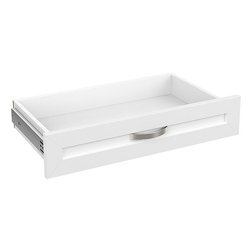 Style+ 5 in H x 25 in. W White Melamine Shaker Drawer Kit for 25 in. W Tower