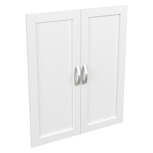 Style+ 25 in. W x 30 in. H White Melamine Shaker Door Kit Closet System