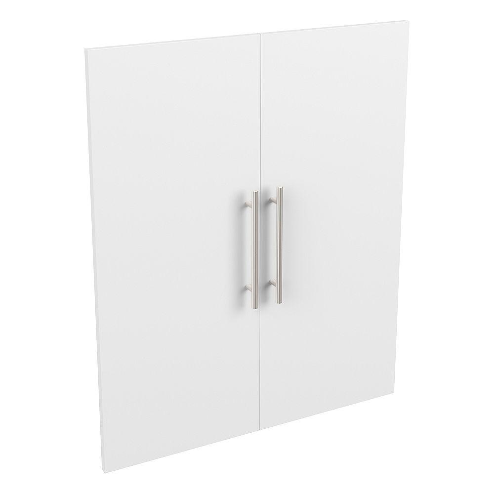 ClosetMaid Style+ 25 in. W x 30 in. H White Melamine Modern Door Kit Closet System