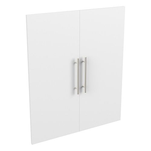 Style+ 25 in. W x 30 in. H White Melamine Modern Door Kit Closet System