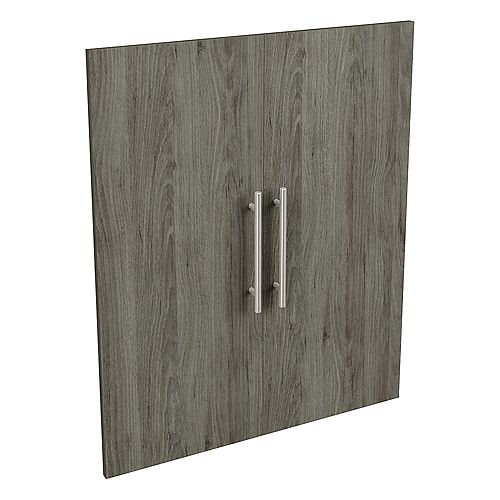 Style+ 25 in. W x 30 in. H Coastal Melamine Modern Door Kit Closet System