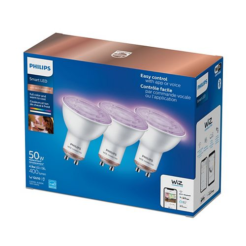 50W GU10 WiFi Full Colour & Tunable in White (3-Pack)