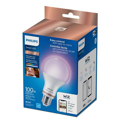 Wiz 100W A21 Frosted WiFi Full Color & Tunable White