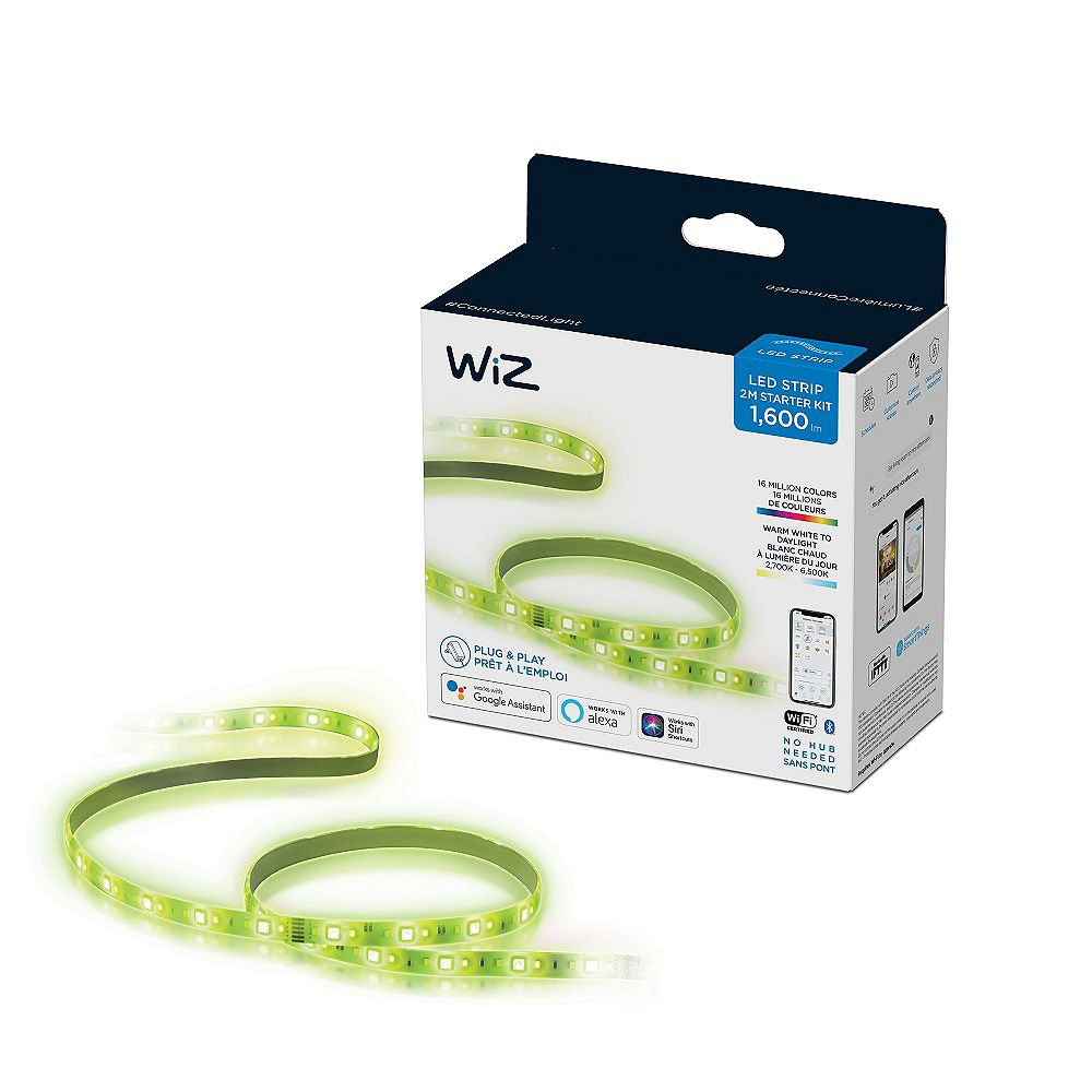 Philips WiZ 2m 1600 Lumens WiFi LED Strip Starter Kit