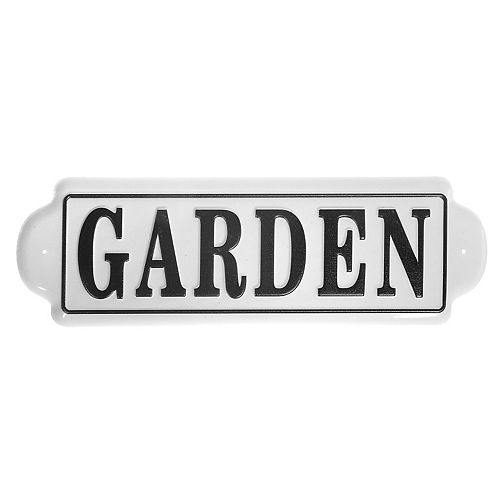 Embossed Metal Wall Sign (Garden)