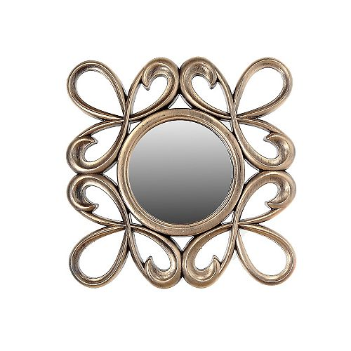 IH Casa Decor Gold Decorative Mirror - Bow