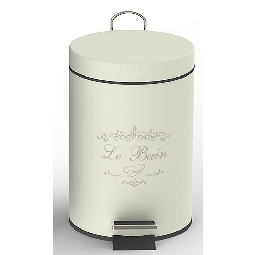 IH Casa Decor Round Tin Step Bin 3L