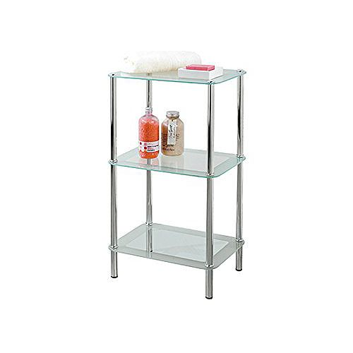 IH Casa Decor 3-Tier Frosted Glass Stand