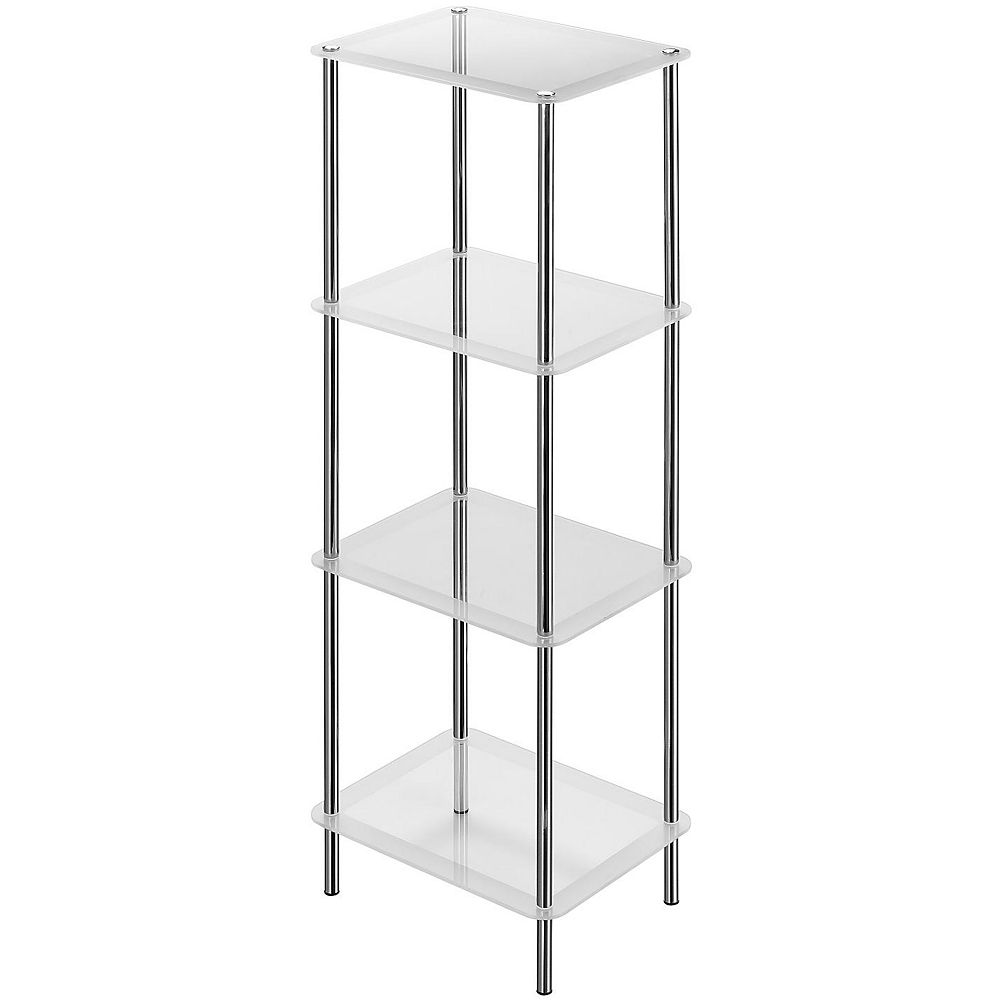 IH Casa Decor 4-Tier Frosted Glass Stand