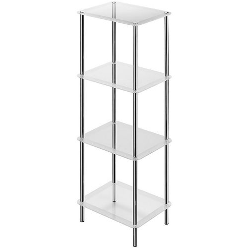 4-Tier Frosted Glass Stand