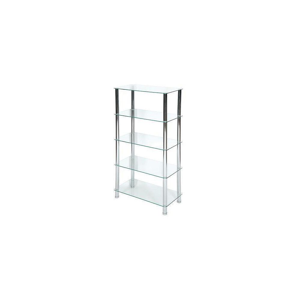 IH Casa Decor 5-Tier  Frosted Glass Stand
