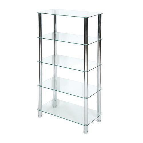 5-Tier  Frosted Glass Stand