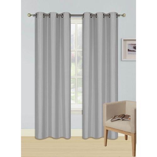 Faux Silk Window Panel - Ensemble De 2