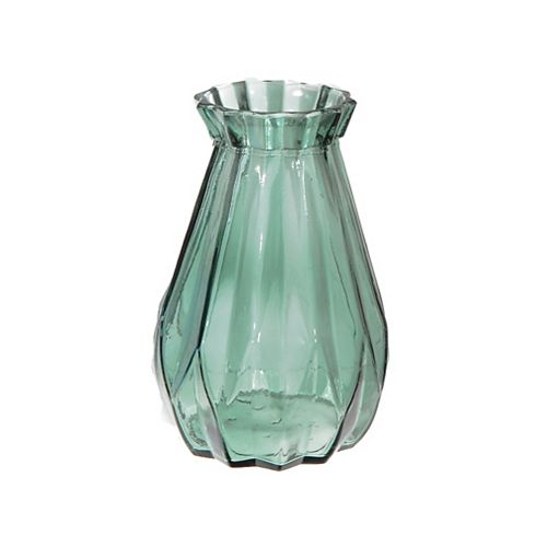 "Satchel Glass Vase (Green) (7"")"