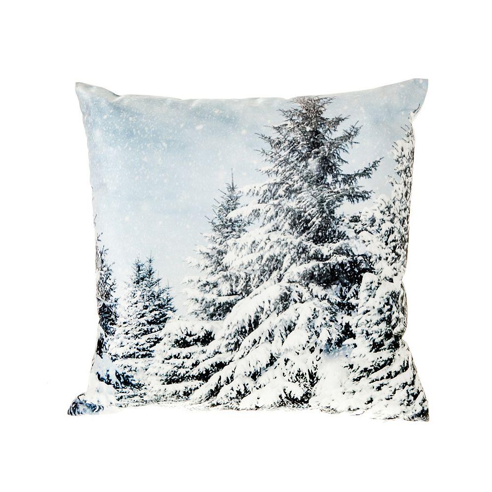 IH Casa Decor Snowy Evergreen - Velvet Filled Cushion - Set of 2