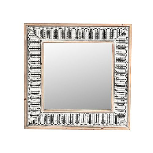 IH Casa Decor Wooden Ornate Mirror