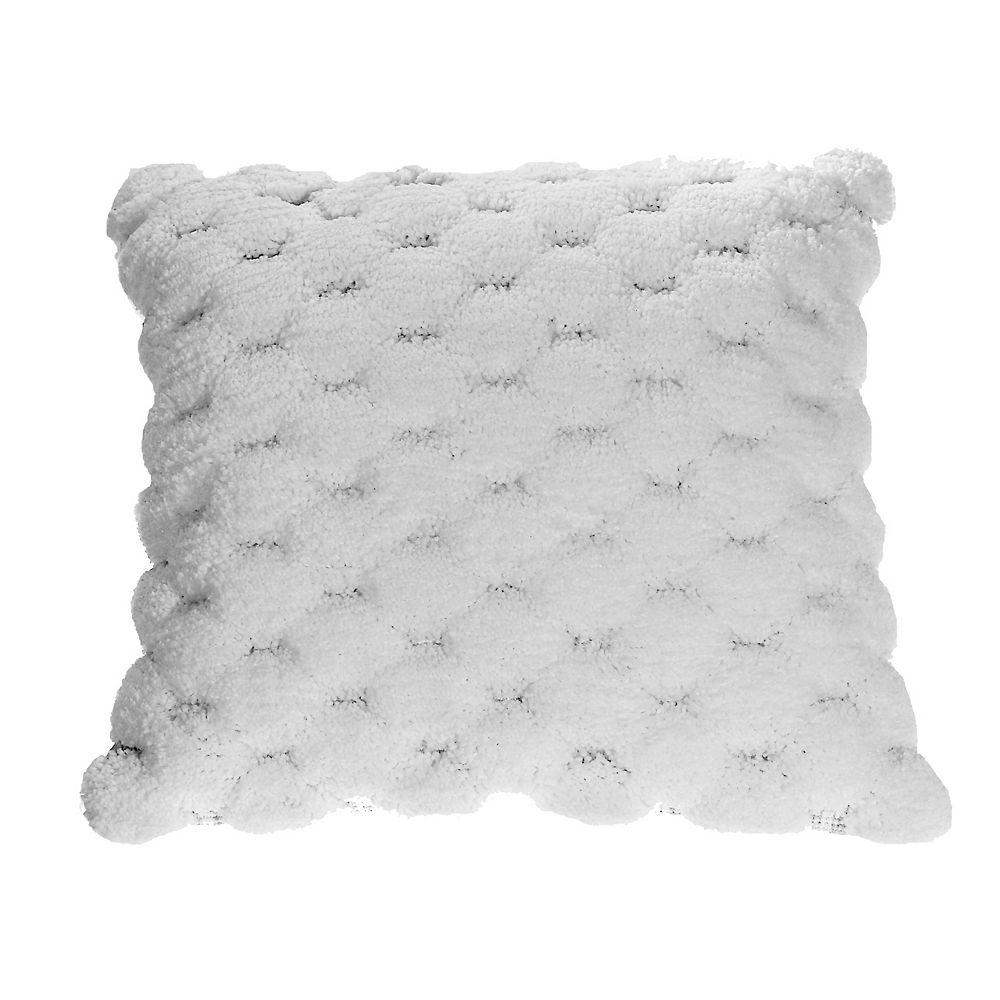 IH Casa Decor White Pompom Cushion