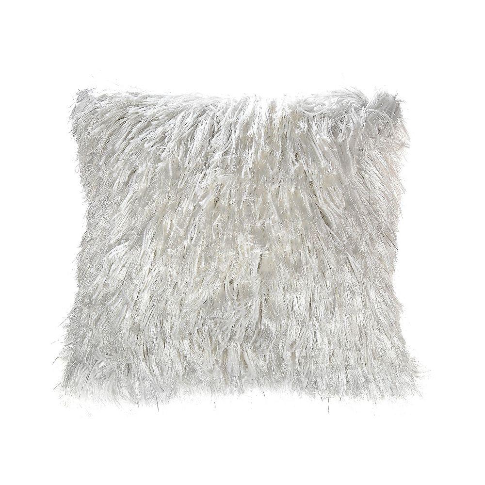 IH Casa Decor Furry Cushion (White)