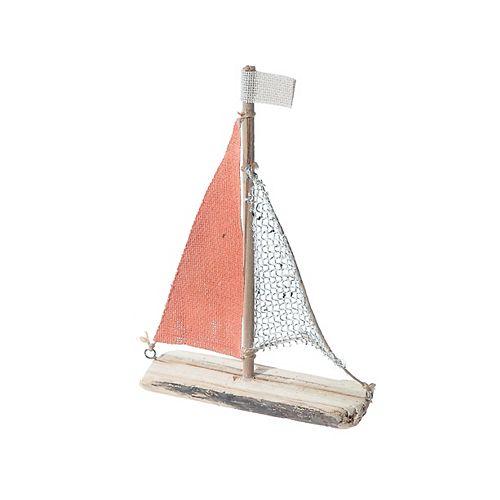 IH Casa Decor Coastal Wood Sailboat