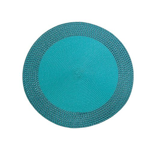 Vinyl Round Placemat With Border (Teal)(Set Of 12)