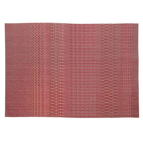 IH Casa Decor Vinyl Placemat (Aztec) (Burgundy)(Set Of 12)