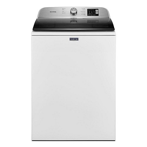 Maytag 5.5 cu.ft. High Efficiency Top Load Washer with Deep Fill Option in White