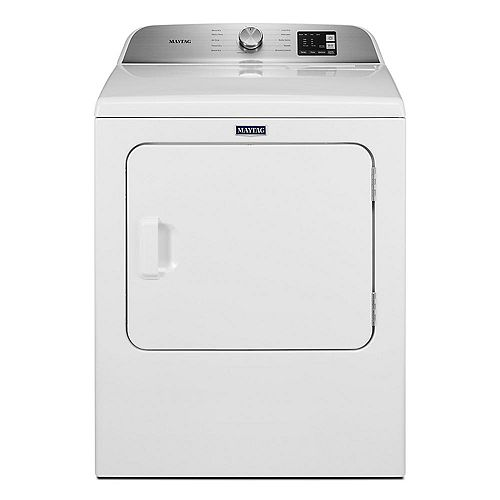 7 cu. Ft. Front Load Gas Dryer with Moisture Sensor in White