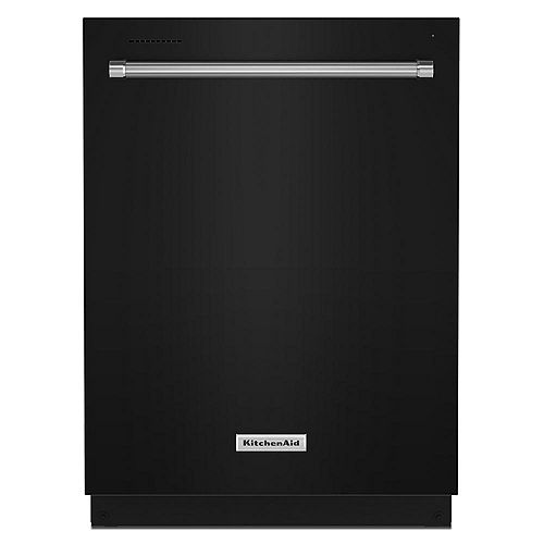 KitchenAid Top Control Dishwasher in Black, Stainless Steel Tub - 3rd Level Rack 39 dBA - ENERGY STAR®