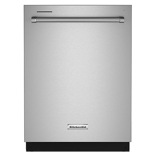 KitchenAid Top Control Dishwasher in Stainless Steel, Stainless Steel Tub - 3rd Level Rack 39 dBA-ENERGY STAR®