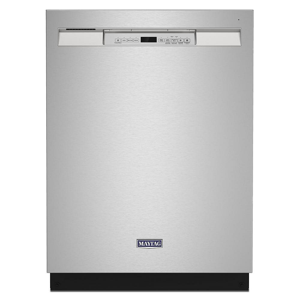 Maytag Front Control Dishwasher in Stainless Steel, Stainless steel tub-Dual Power filtration- ENERGY STAR®