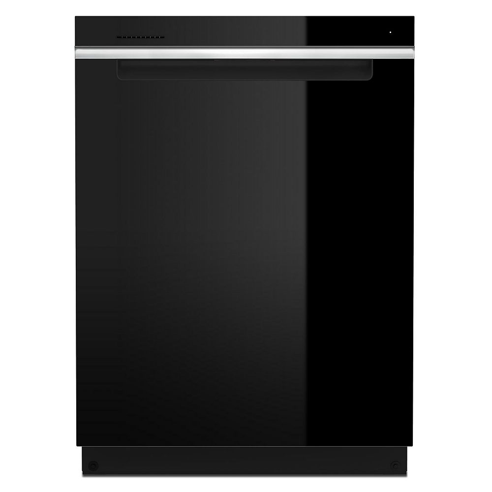 Whirlpool Top Control Large Capacity Dishwasher with 3rd Rack in Black with Stainless steel tub, 47 dBA - ENERGY STAR®