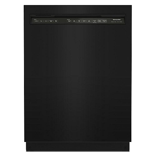 KitchenAid Front Control Dishwasher in Black, Stainless Steel Tub - 3rd Level Rack 39 dBA - ENERGY STAR®