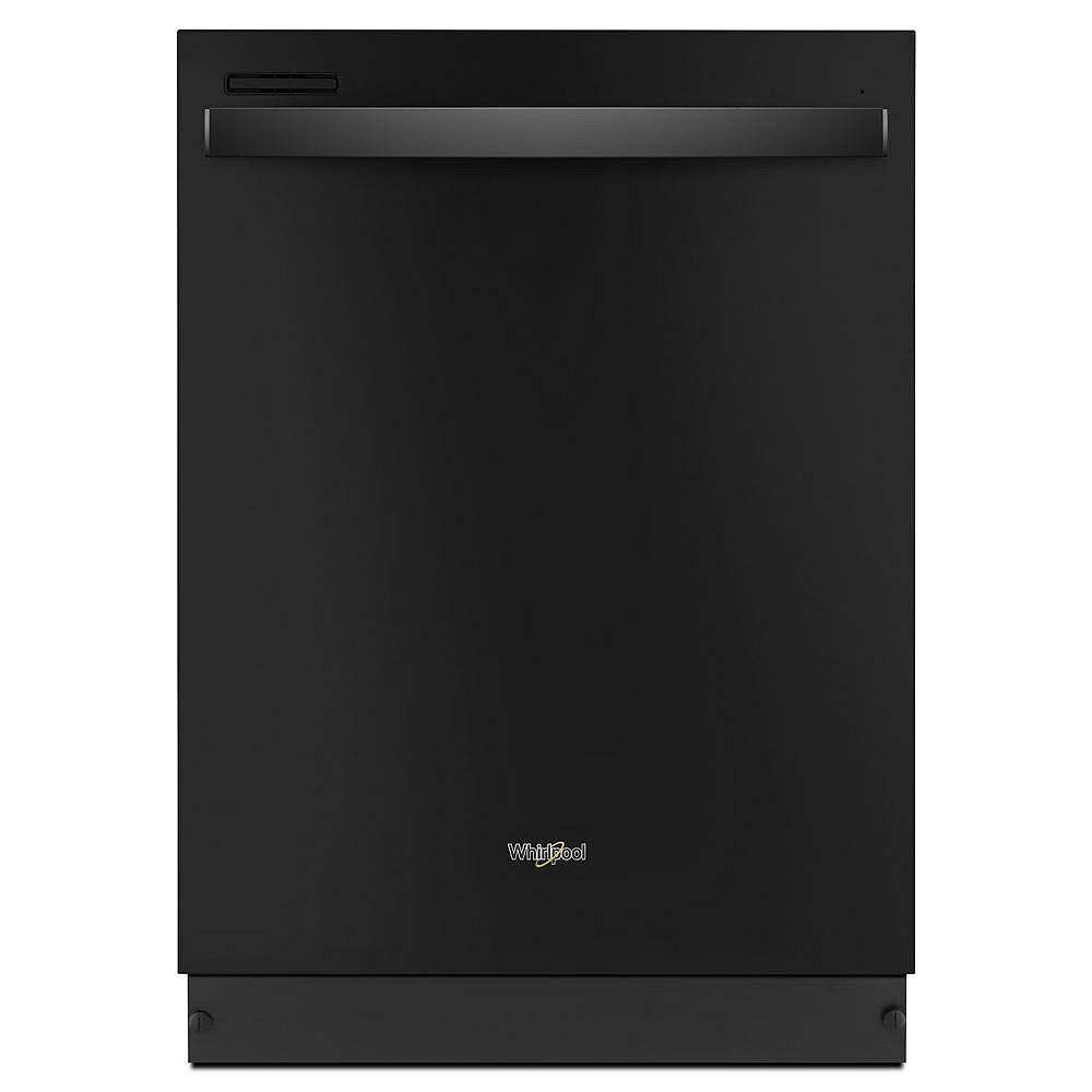Whirlpool Top Control Dishwasher in Black, with Sensor Cycle
