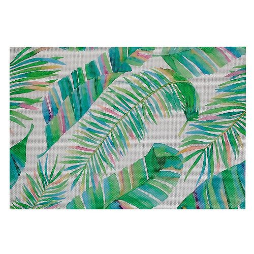 IH Casa Decor Printed Vinyl Placemat (Palm Leaves)(Set Of 12)