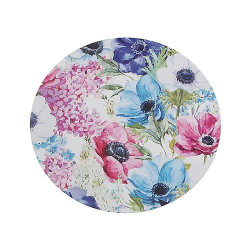 IH Casa Decor Round Hard Cork Backing Placemat (Spring Floral)