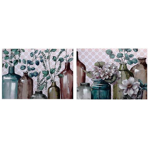 Hand Painted Canvas Wall Art (Eucalyptus) (Asstd)