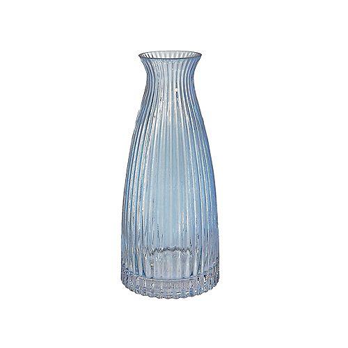 Light Blue Bottleneck Glass Vase (Large)