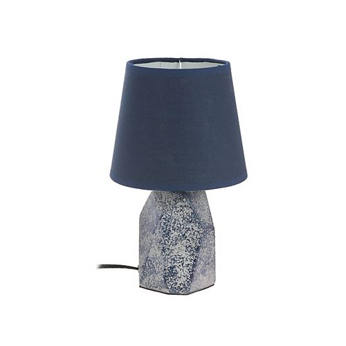 Ceramic Table Lamp With Shade (Georgia) (Navy Blue)