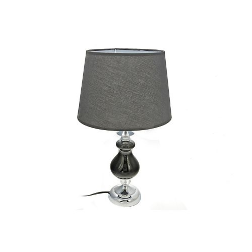 IH Casa Decor Ceramic Table Lamp With Shade (Black Orb)