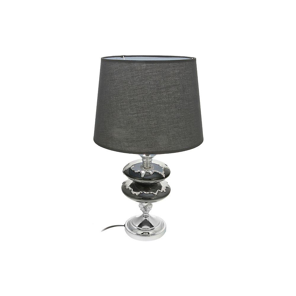 IH Casa Decor Ceramic Table Lamp With Shade (Ornate Twin)